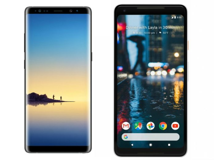 Note 8 vs Pixel 2 XL