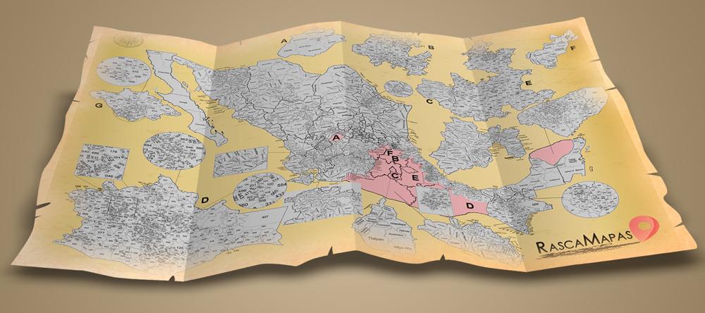 Mapa rascable de México