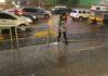 Lluvia fuerte y granizo
