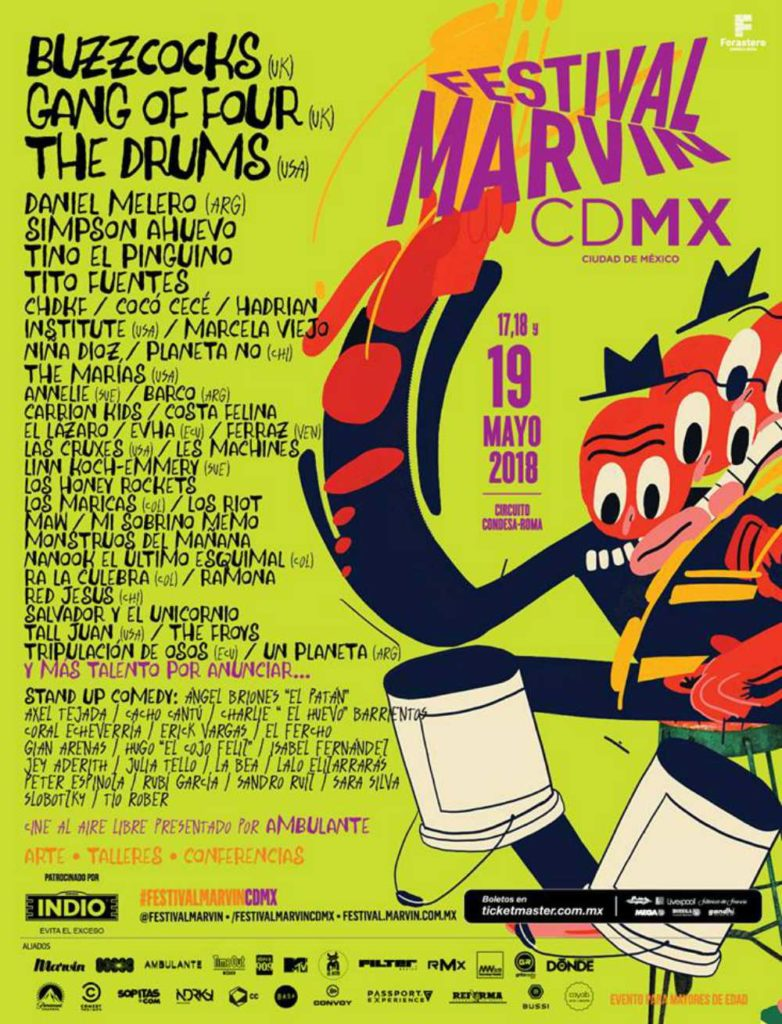 Cartel del Festival Marvin 2018 poster