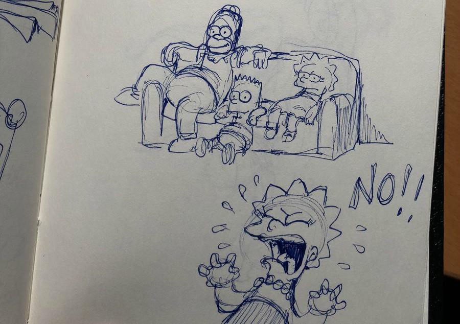 Dibujo De Bart Simpson Disfrazado