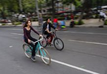 ciclistas en riesgo