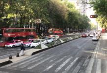metrobús en Paseo de la Reforma