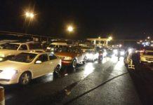 Tráfico por vacacionistas en el último día del puente