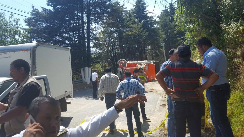 Accidente en carretera Huixquilucan-La Marquesa