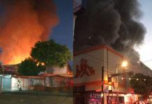 incendio en Mercado Hidalgo