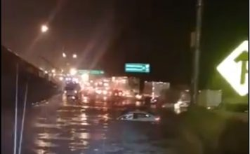 lluvias provocaron inundación en la carretera México-Toluca