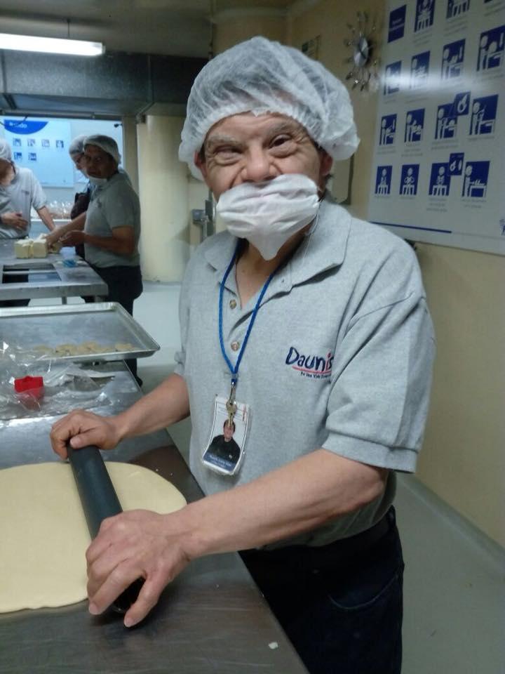 tamales hechos por personas con síndrome de down