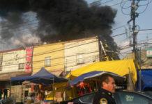 incendio junto al mercado Sonora