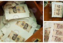 fábrica de billetes falsos