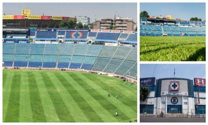 pasto del Estadio Azul