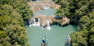 tirolesa en bici en México