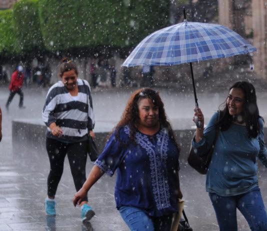 otoño con lluvia