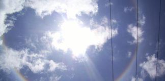 halo solar en CDMX