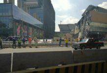 #Videos: ocurrió un derrumbe en Plaza Artz Pedregal en Periférico