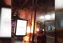 incendio en el metrobús insurgentes