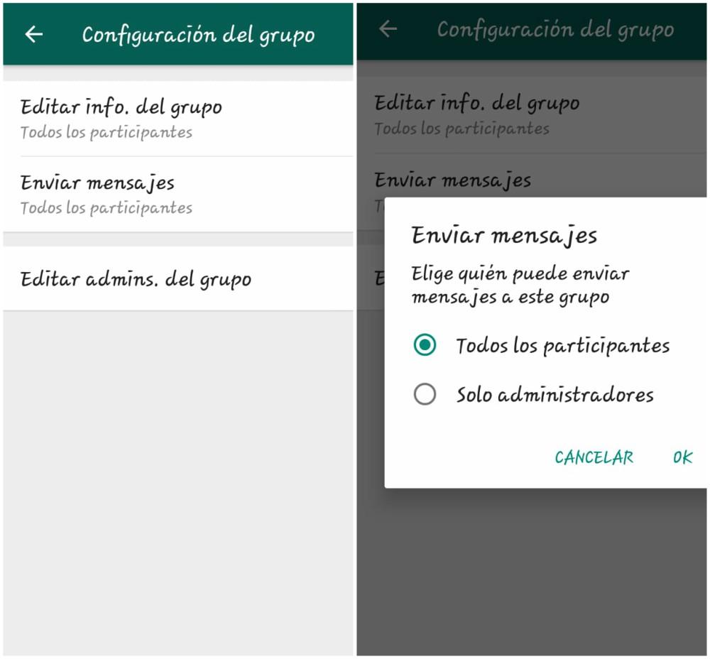 WhatsApp permitirá bloquear respuestas a mensajes