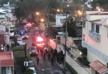 balacera en la delegación Coyoacán