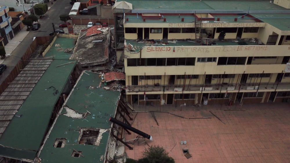 escombros del Colegio Enrique Rébsamen