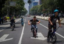 ampliación de la ciclovía en paseo de la reforma
