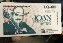 Presentan boleto conmemorativo del Metro con imagen de Joan Sebastian