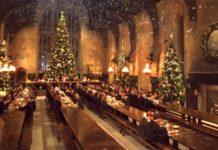 cena en el gran comedor de hogwarts