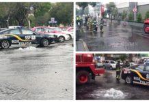 mega fuga de agua en Polanco