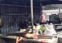 Controlan incendio en un puesto ambulante afuera de Metro Chilpancingo