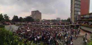 marcha en la UNAM