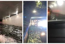 inundaciones en viaducto