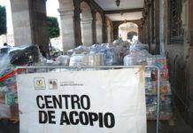 acopio en apoyo a migrantes en el zócalo
