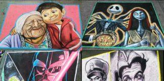 Naitoreido, el artista detrás de estos dibujos en banquetas