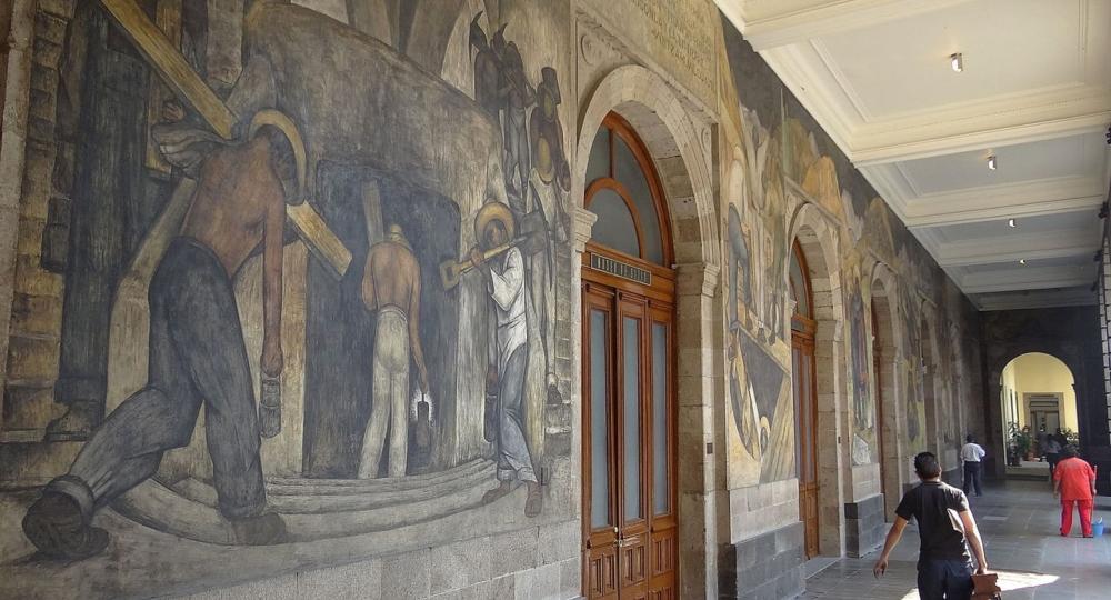 Exposicion De Los Murales De Diego Rivera En La Sep