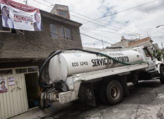 ya están repartiendo pipas de agua en Iztpalapa