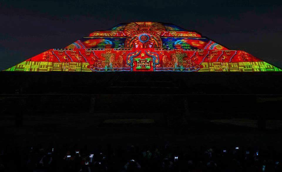 experiencia nocturna de Teotihuacán 2018