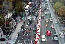 cierres en Paseo de la Reforma