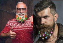 adornos navideños para la barba