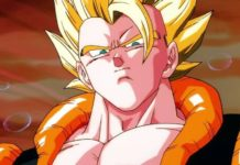 gogeta en dragon ball super broly