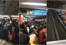 Caos en la línea 2 del metro