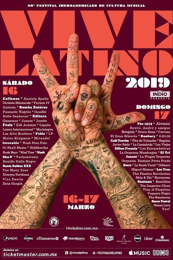 Nuevo cartel del Vive Latino 2019 actual