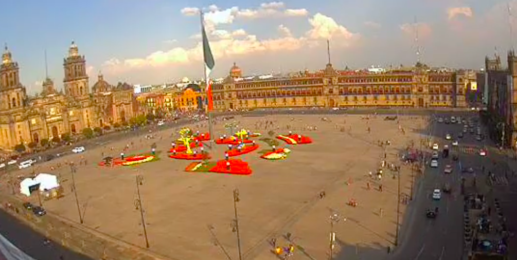 Jardín en el Zócalo