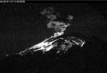 Popocatépetl registró una explosión