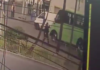 policía atropellado por asaltantes