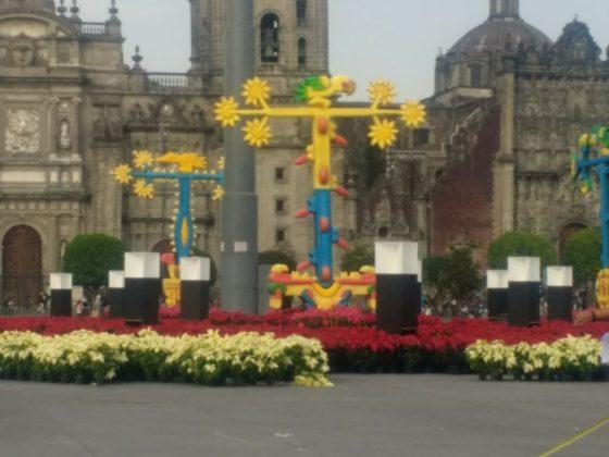 Jardín en el Zócalo de la Ciudad de México