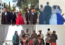 boda durante el discurso de AMLO