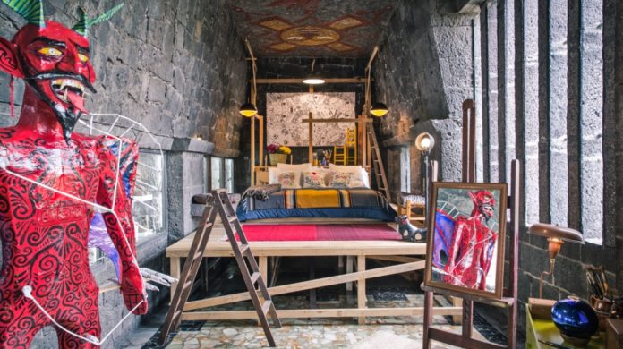 habitación de frida en el anahuacalli