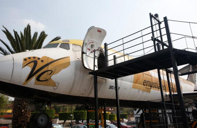 avión en la Venustiano Carranza