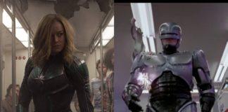 Capitana Marvel y Robocop