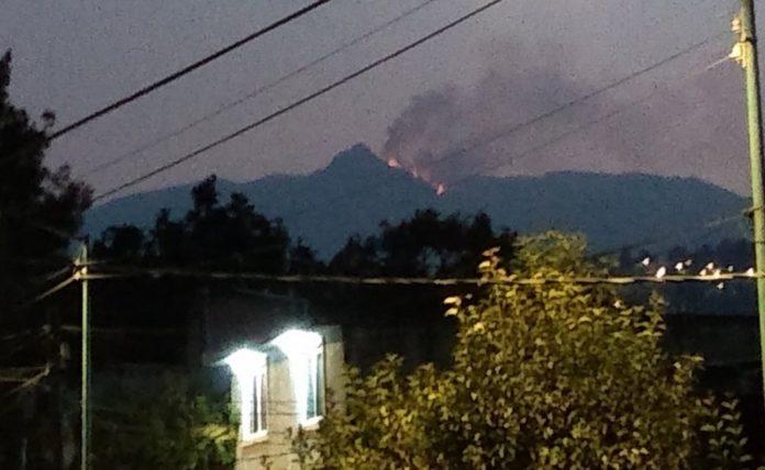 Reportan incendio en el Pico del Águila del Ajusco