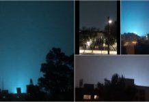 Luces en el cielo de la cdmx